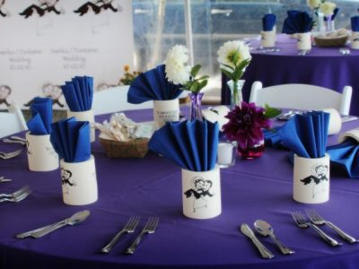 cape cod wedding table setup
